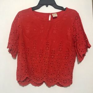 Red japana top
